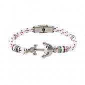 Bracelet Cordon et Ancre Acier