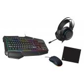 set gamer clavier souris casque