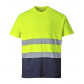 T-shirt coton bicolore